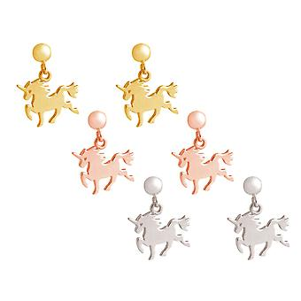GEMSHINE earrings with Unicorn. Earrings made of 925 Silver with a length of 2, 5 cm. Made in Spain. Delivered in an elegant gift case.