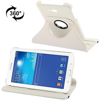 PU cover lade ash (flip Kruis) voor Samsung Galaxy tab 3 7.0 Lite T110 / T111 wit