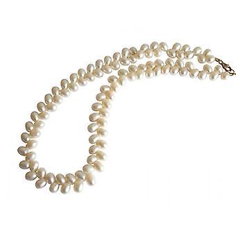 Pearl Halskæde Pearl Halskæde DOROTHEA perler halskæde 42 cm hvid