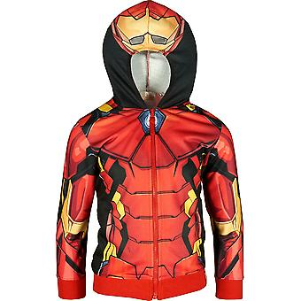 Boys ER1087 Marvel Avengers Full Zip Hooded Sweatshirt Size: 4-10 Years