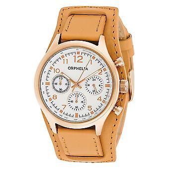 ORPHELIA Ladies Chronograph Watch Vogue pelle 81504 marrone