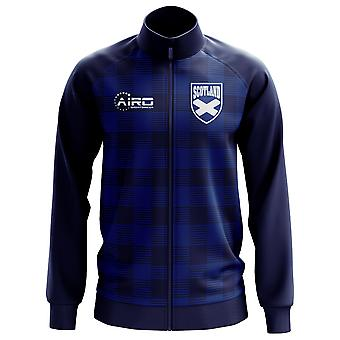 Scotland Tartan Concept Football Track Jacket (Navy) - Kids