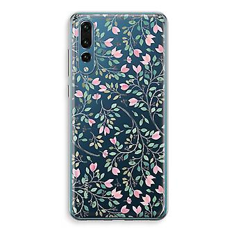 Huawei P20 Pro Transparent Case (Soft) - Dainty flowers