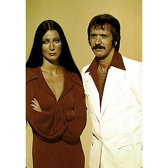A Sonny And Cher wearing red Photo Print
