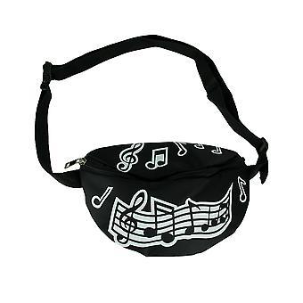 Zwart-wit muziek merkt verstelbare Fanny Pack