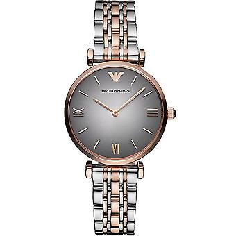 Emporio Armani Ladies' Watch - AR1725 - Grey/Steel/Rose Gold