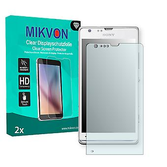 Sony Xperia SP TD-LTE Screen Protector - Mikvon Clear (Retail Package with accessories)