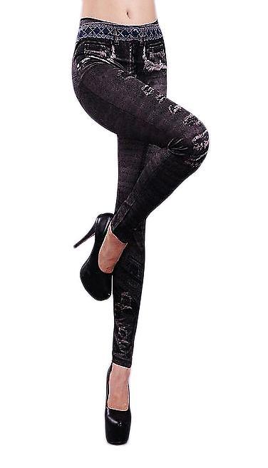 Waooh - Mode - Legging Effet Jean Imprimé Poches