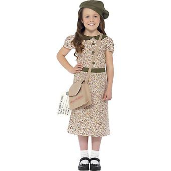 Evacuee Girl Costume, Medium Age 7-9