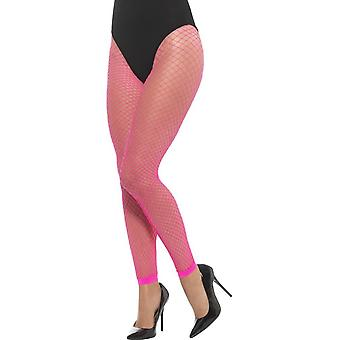 Footless netto Tights, Neon rosa