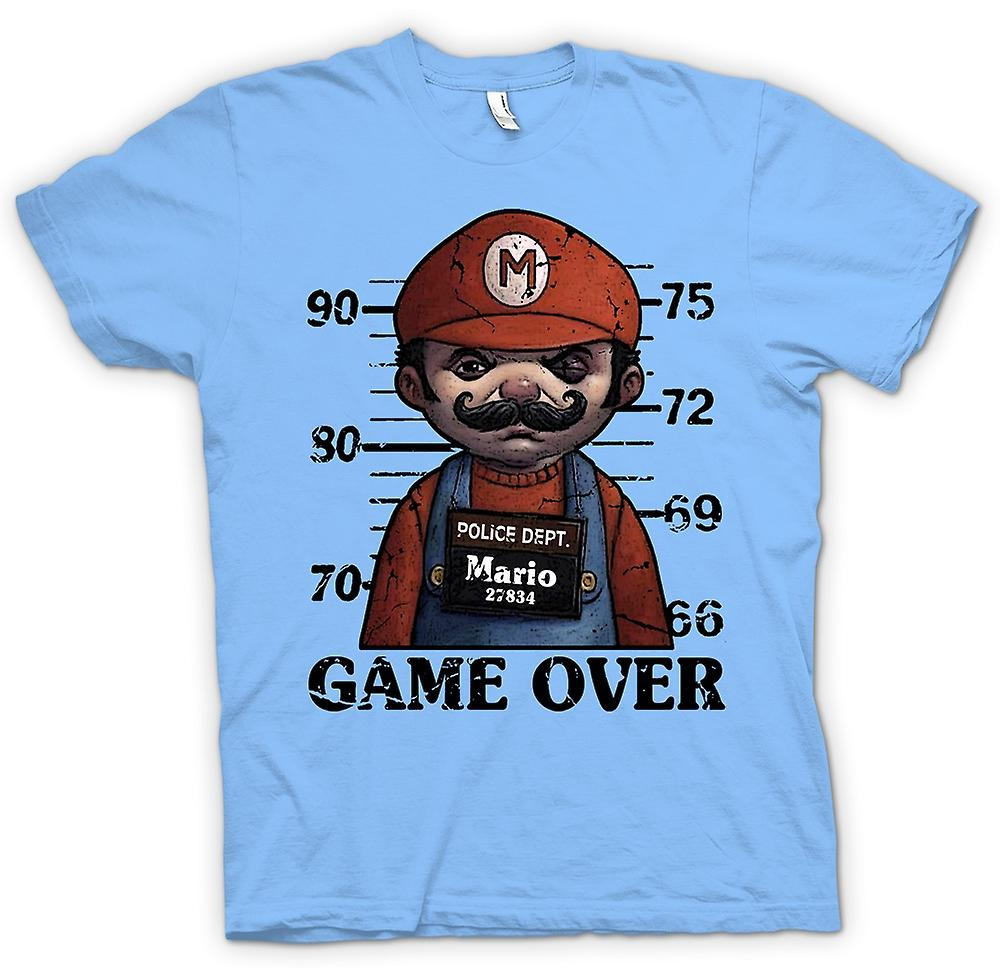 Mens t-shirt - Mario - Mug Shot - Funny