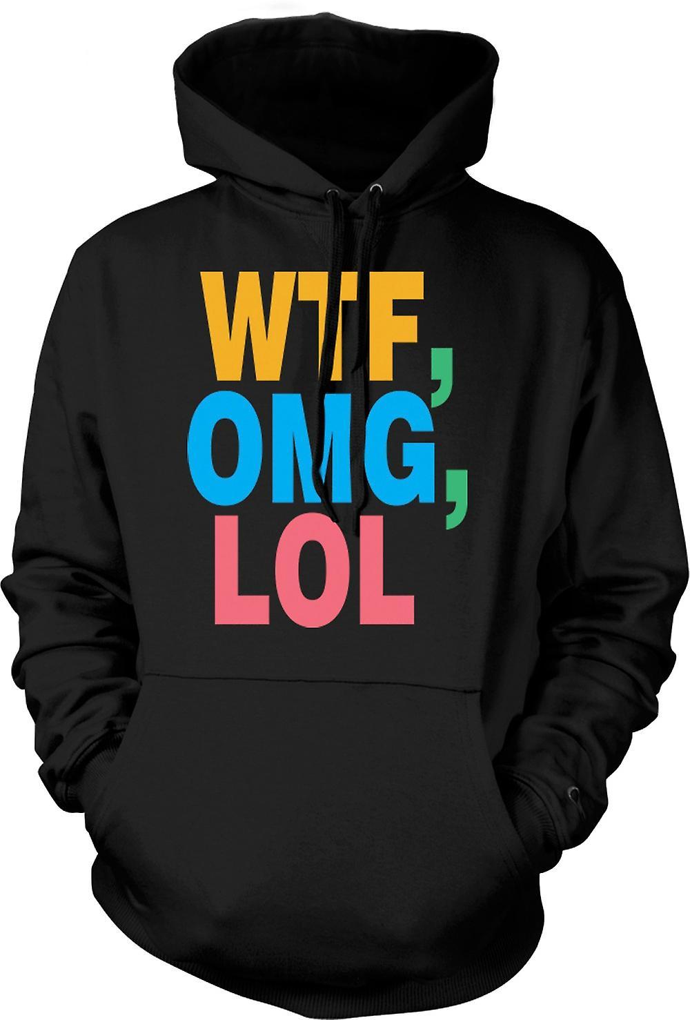 Mens Hoodie - WTF, OMG, LOL - Funny