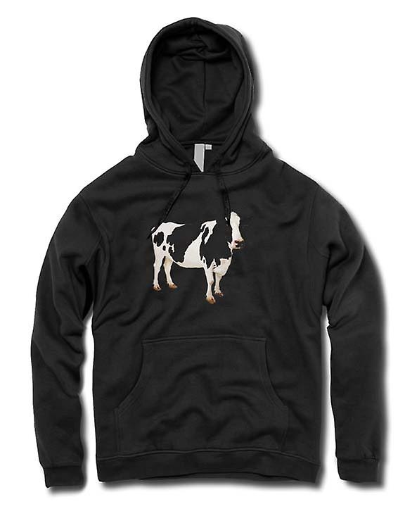 Mens Hoodie - Friesian Cow - New