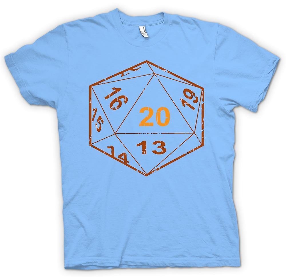 Mens T-shirt - kerkers en draken D20 Dice - Gamer