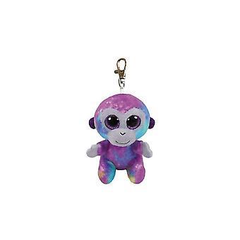 Ty Beanie Babies Boo's Zuri Monkey nyckel klippet