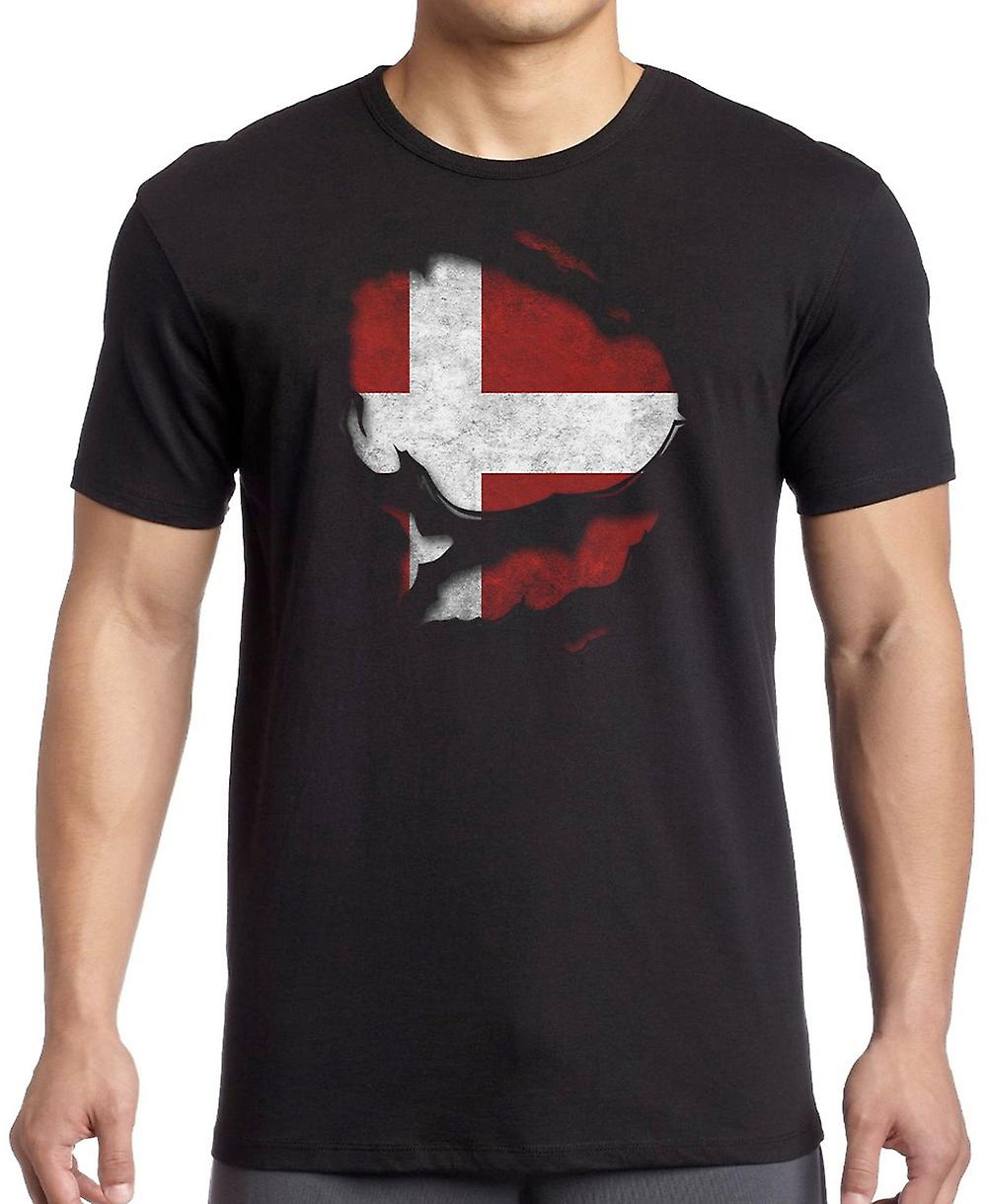 EU European Ripped Effect Under Shirt T Shirt