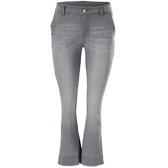 B.C.. best connections featured ladies flared jeans short sizes grey
