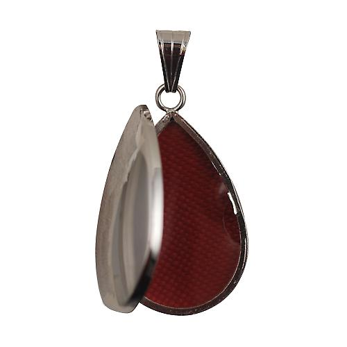 18ct White Gold 30x20mm plain teardrop Locket