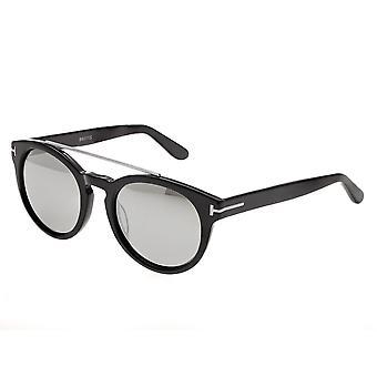 Bertha Ava Polarized Sunglasses - Black/Silver