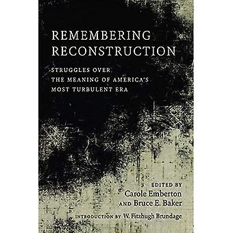 Remembering Reconstruction: Struggles Over the Meaning of America's Most Turbulent� Era