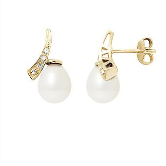 Earrings pearls, diamonds and gold 750/1000
