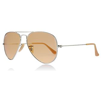 Ray-Ban RB3025 9065V9 Silver RB3025 Aviator Sunglasses Lens Category 3 Size 55mm