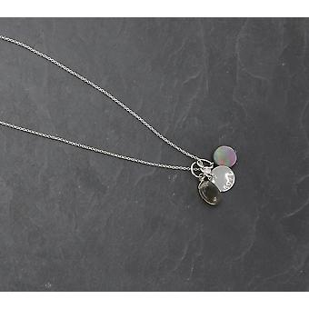 PEARLS FOR GIRLS jewelry cool ladies necklace with 3 pendants silver