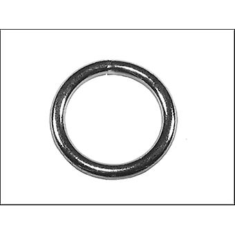 ZINC PLATED WELDED RINGS 8MM (PACK OF 4)