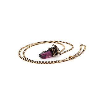 Alexander Mcqueen Purple Brass Necklace