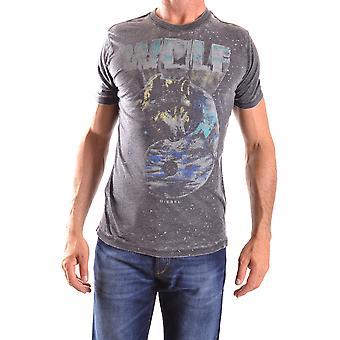 Diesel Grey Cotton T-shirt