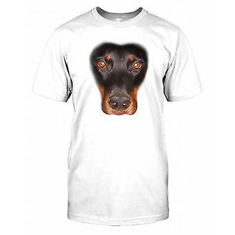 Doberman Pinscher Pedigree Dog Face Mens T Shirt