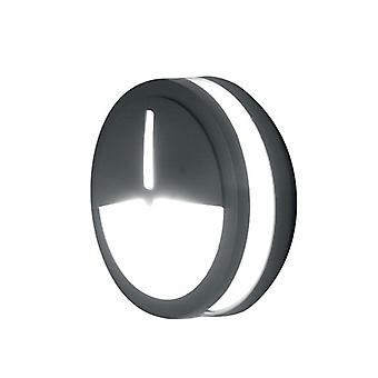 Mtitan Modern Outdoor Wall Light with Opal Glass in Graphite