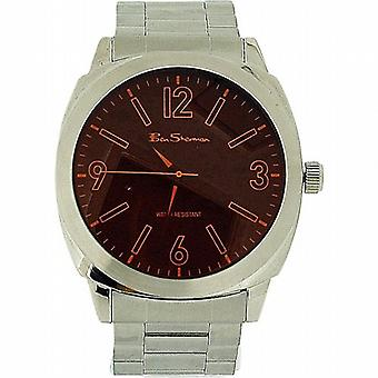 Ben Sherman Gents quadrante tono argento Bracciale in metallo cinturino Dress Watch BS038