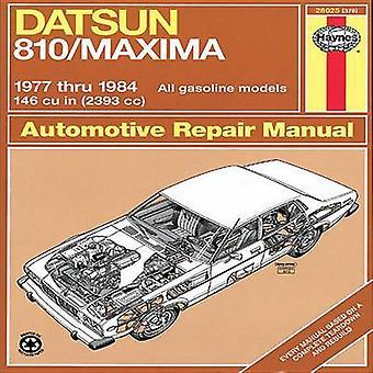 Datsun 810 All Gasoline Models 1977-84 Owner's Workshop Manual (Revis