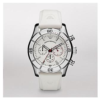 Emporio Armani Ar5947-branco Sportivo Chronograph Mens Watch