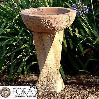 Foras Rainbow Twist Hammered Stone Bird Bath