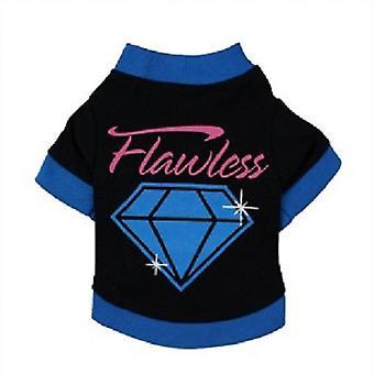 Camiseta de perro de diamante impecable