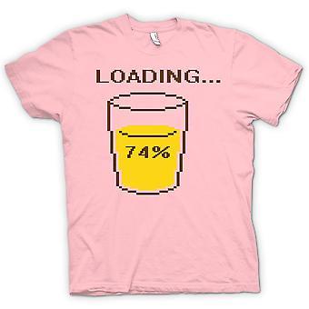 Womens T-shirt - Loading 74% Retro Gaming