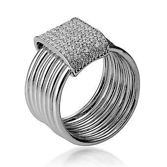 Orphelia Silver 925 Ring With Zirconium And Separate Circles ZR-7417