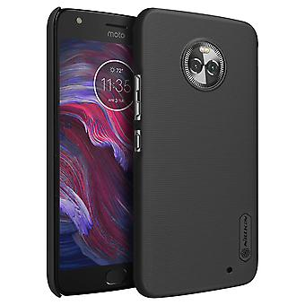 Frosted Shield Nillkin Set: Cover + Tempered glass film for Moto X4 - Black