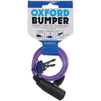 Oxford Purple Bumper Cable - 6mm X 600mm Motorcycle Lock