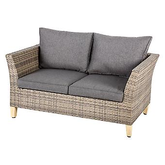 2-Sitzer-Lounge Couch-Rattan
