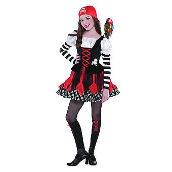 Flickor crossbone cutie pirat fancy dress kostym (ålder 3-5)