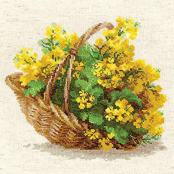 Geel koolzaad geteld Cross Stitch Kit-9,75