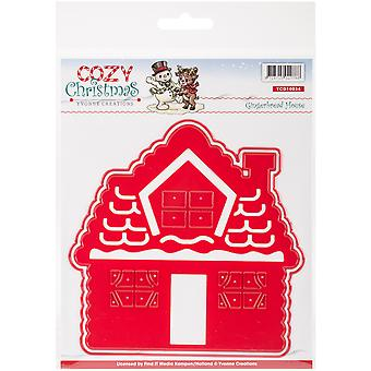 Find It Trading Yvonne Creations Cozy Christmas Die-Gingerbread House YCD10034