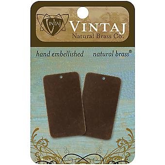 Vintaj Metal Altered Blanks 2 Pkg Large Rectangle 40Mmx23mm P0061r