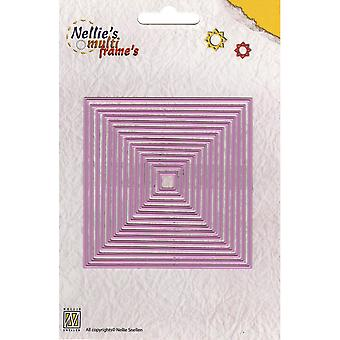 Nellie's Choice Multi Frame Dies Straight Square 14 Pieces Mfd056