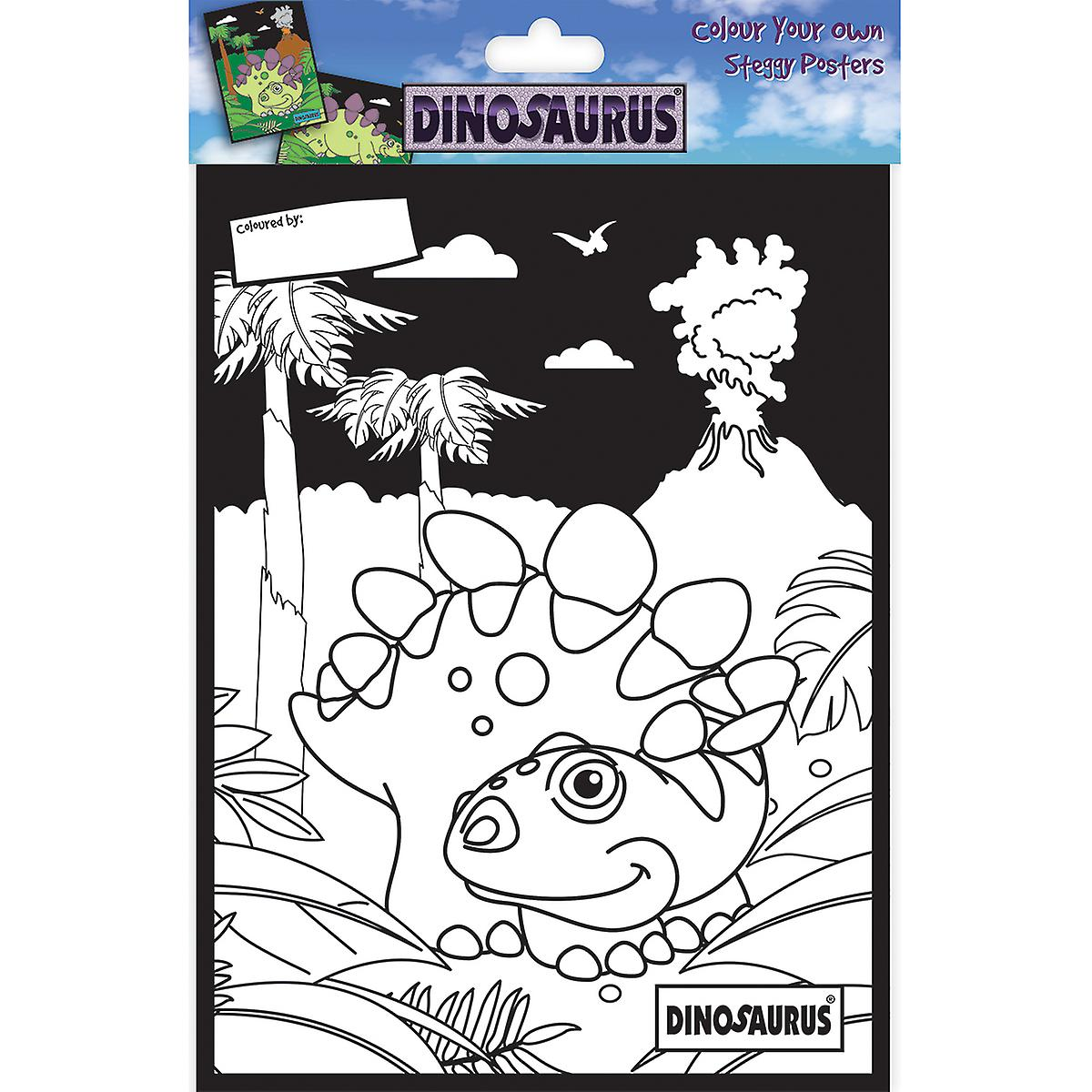 Dinosaurus Color Your Own Poster-Steggy DCCYO-3