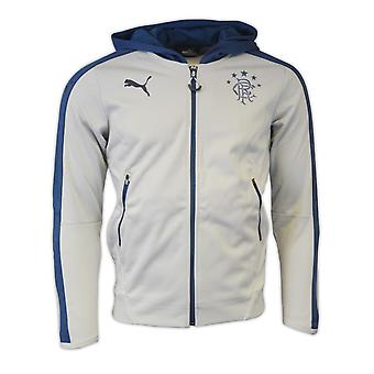 2016-2017 Rangers Puma Casual Zip Through Hoody (High Rise)