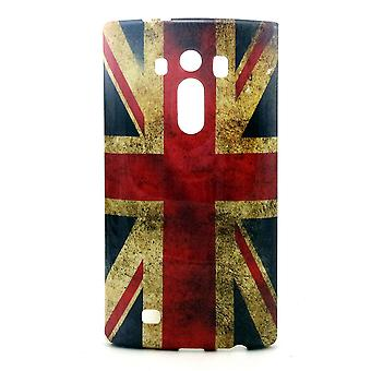 UK vlag TPU rubber cover voor LG G4